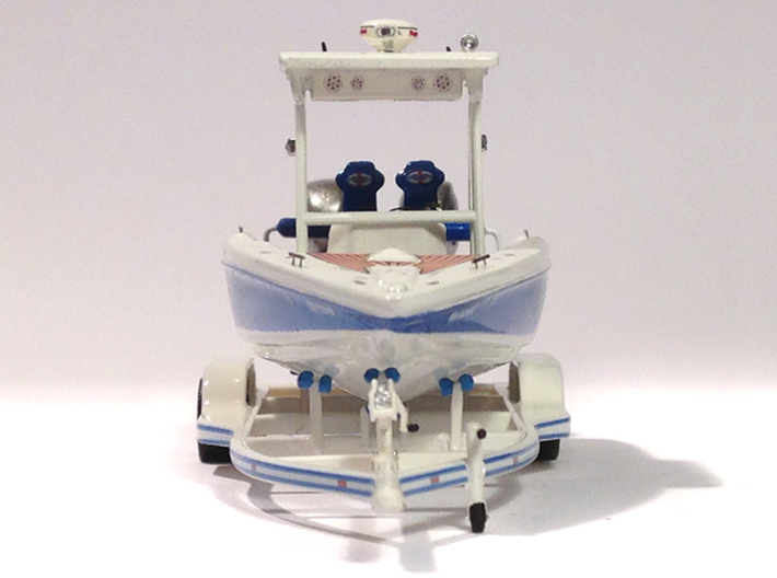 1/87 Formula-1 Speedboat Trailer 3d printed Yacht on F1 trailer
