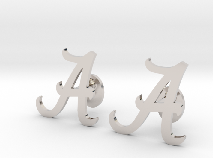 Alabama Cufflinks, Customizable 3d printed