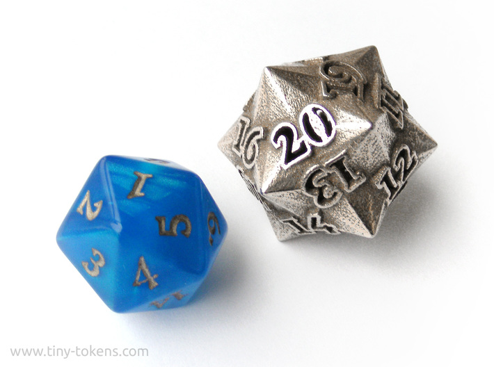 Faceted - Spindown d20 life counter dice 3d printed
