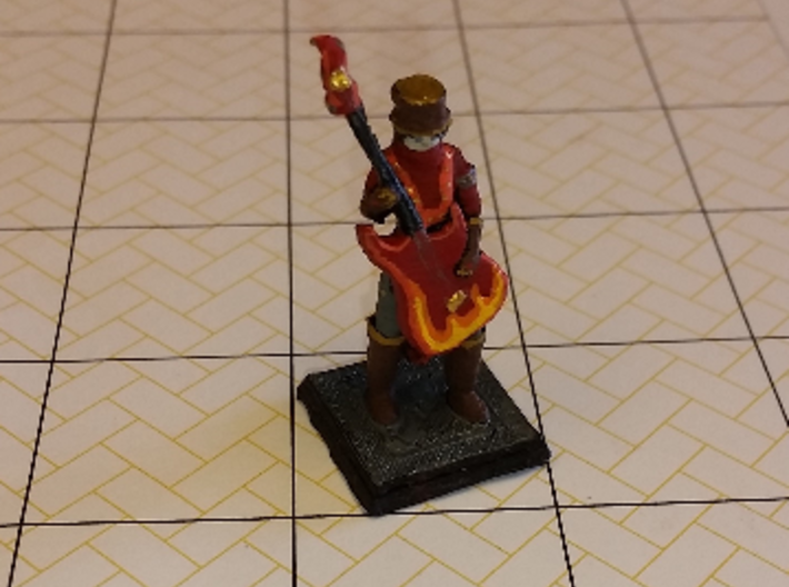 Bard_of_Rock 3d printed Printed and painted