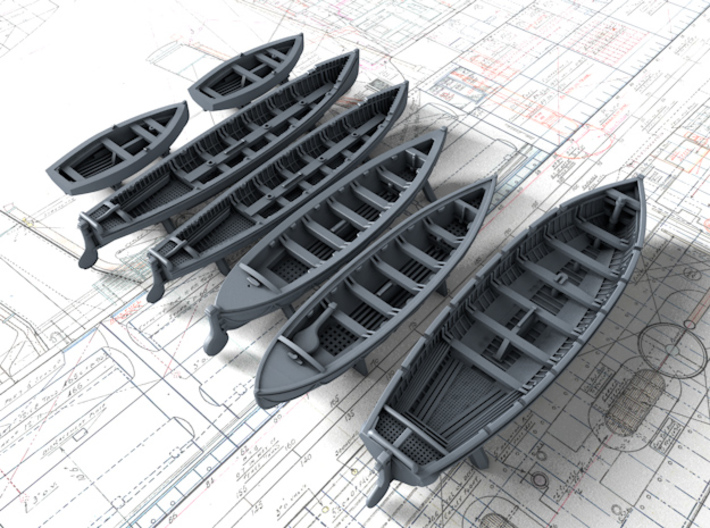 1/350 Scale HMS Invincible (WW1) Boat Set 2 3d printed 1/350 Scale HMS Invincible Boat Set 2