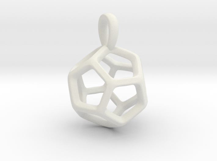 Dodecahedron Platonic Solid Pendant 3d printed