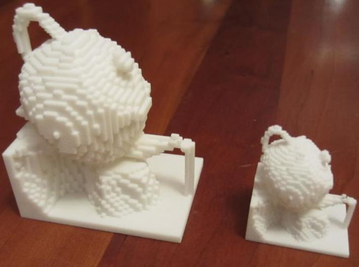 Teapot $25 3d printed On the left, vs. $5