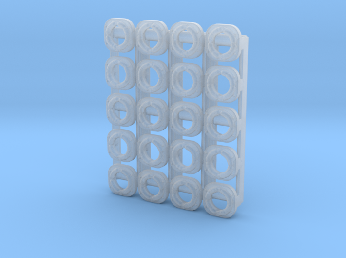 Sealed Single Beam, Late (N - 1:160) 20X 3d printed