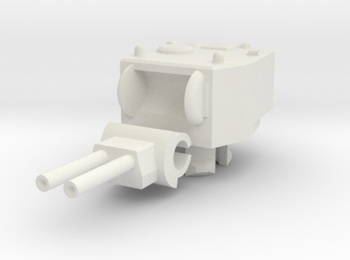 1/100 Twin Howitzer Turret 3d printed