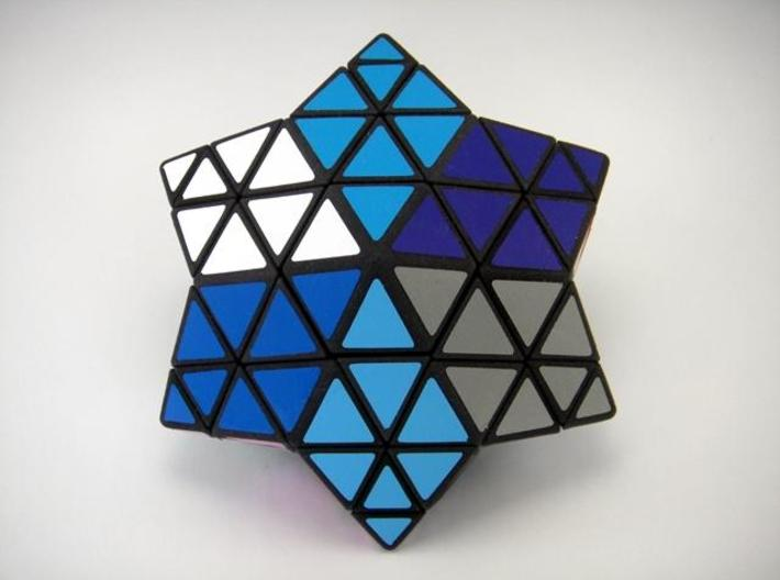 Star of David Puzzle 3d printed Solved