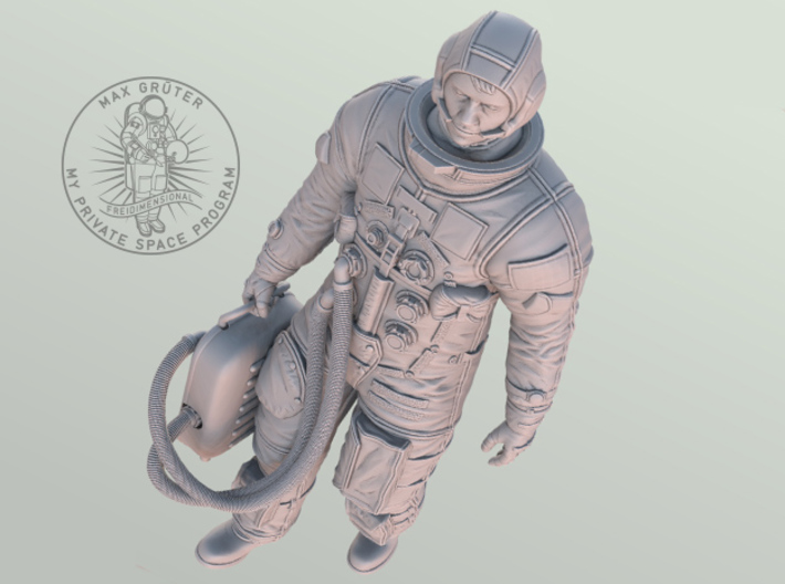 Apollo Astronaut Ready For GO / 1:6 3d printed