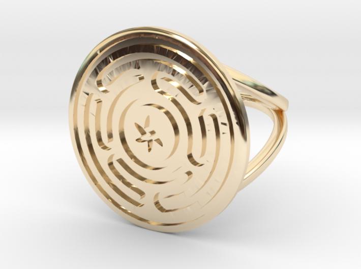 Wheel of Hecate ring 3d printed