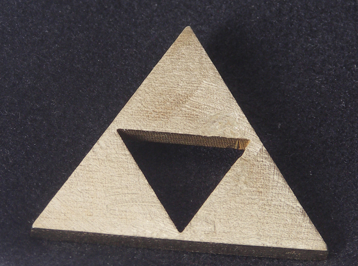 Zelda Triforce 3d printed Raw Brass