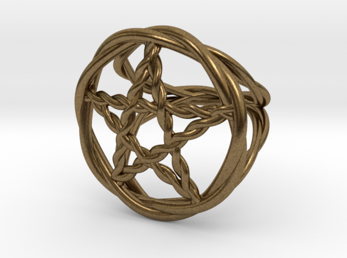 Pentacle ring - braided 3d printed