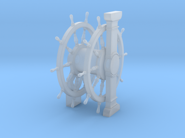 1/84 Wheel and Pedestal for Ships-of-the-Line 3d printed