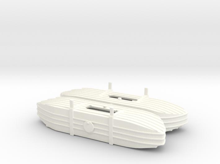 1/72nd (20 mm) scale Pontoons for V-3 Straussler 3d printed