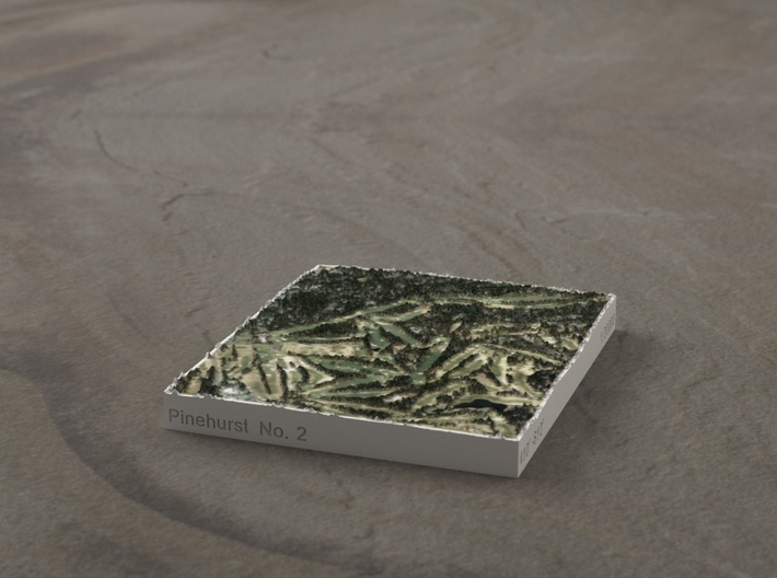 Pinehurst No. 2, North Carolina, USA, 1:20000 3d printed
