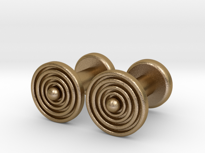 Geometric, Minimalistic Men's Circular Cufflinks 3d printed