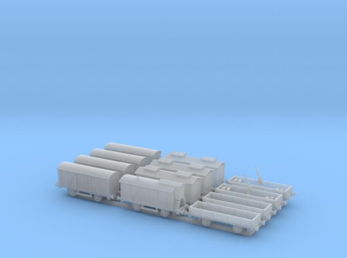 Railroad_wagons_1/350 3d printed