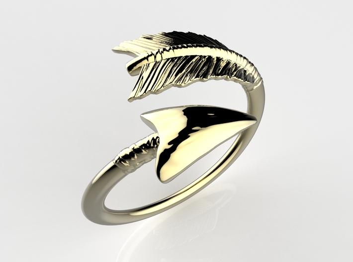 Spiral Arrow Ring 3d printed RENDER