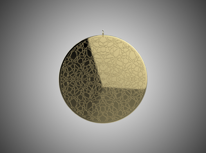 Cracked Earth Pendant 3d printed