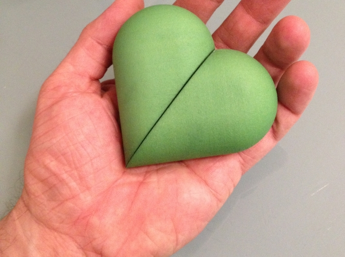Heart Amulet Big - Ring Insert for Ring58 (18.5mm) 3d printed