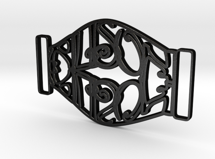 Personalised Mirrored Name Buckle (001) 3d printed