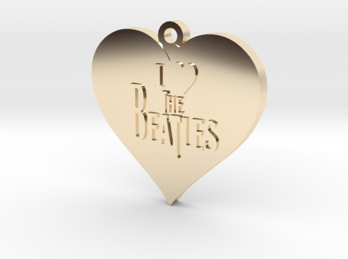 I Love The Beatles pendant 3d printed