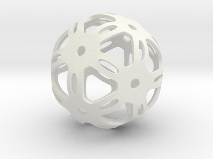 Well Rounded Symmetrical Sphere  3d printed