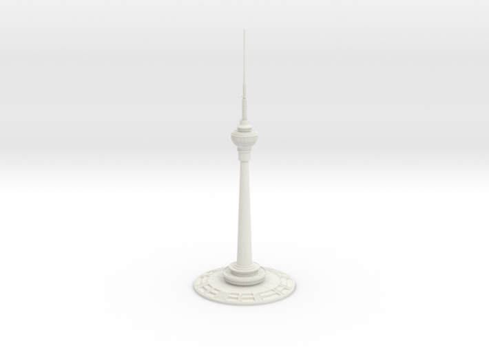 Central Radio & TV Tower (1:2000) 3d printed Assembled model.