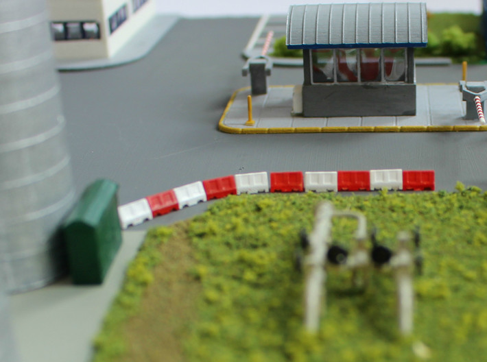 N Scale Guard House 2 3d printed Guard house on floor slab (available separately)