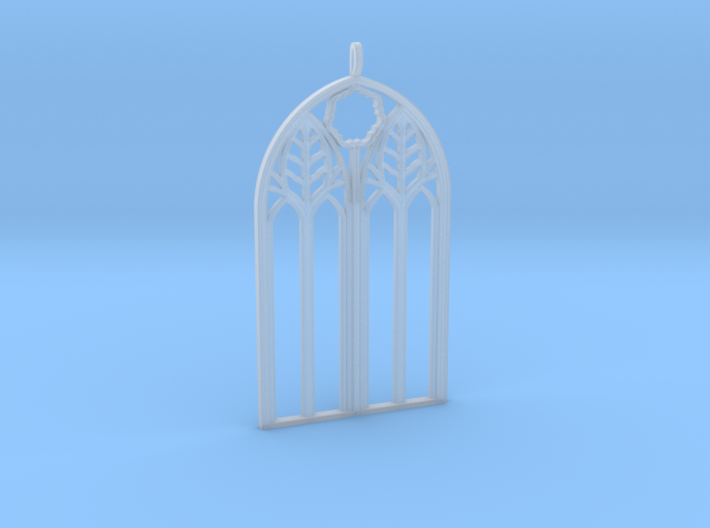 Neo-Gothic Arch Pendant 3d printed