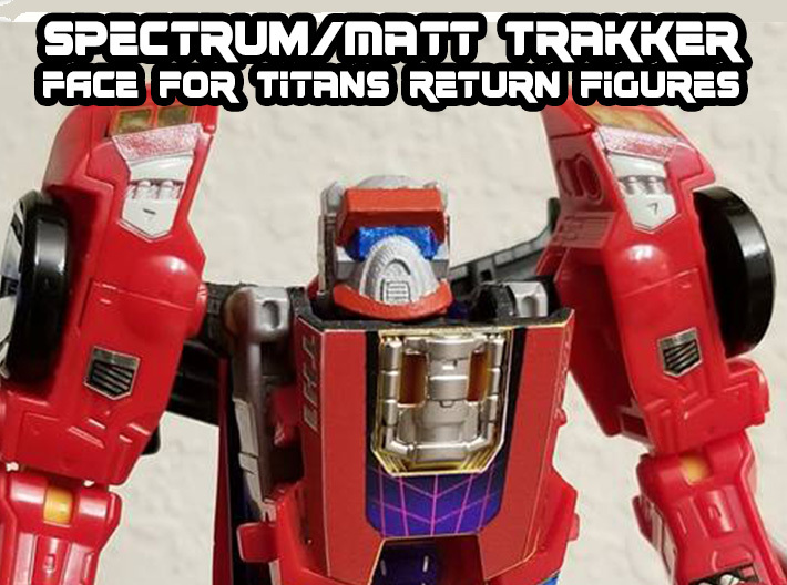 Matt Trakker Spectrum Mask (Titans Return) 3d printed Hand painted FUD with Toyhax stickers