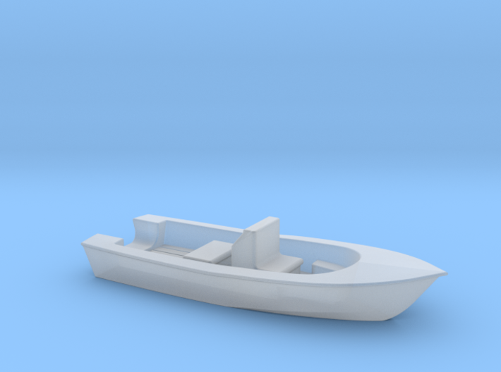 Center Console Fishing Boat N Scale 3d printed