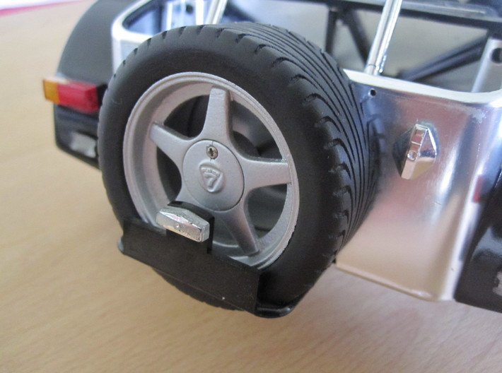 CATERHAM Tire Front Left x1 Black Acrylic 1-12 3d printed