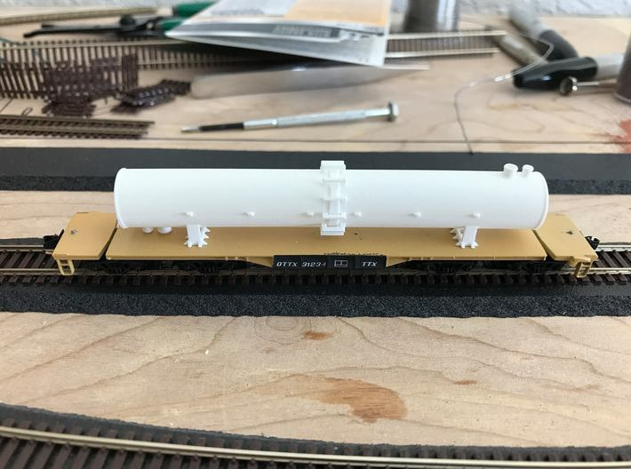 Flatcar Load - Fraction Tower - Nscale 3d printed Painting and Photo by Joe Fehr