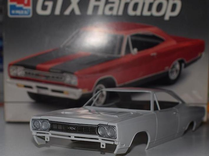 1/25 1968 Plymouth GTX Grill 3d printed painted sample