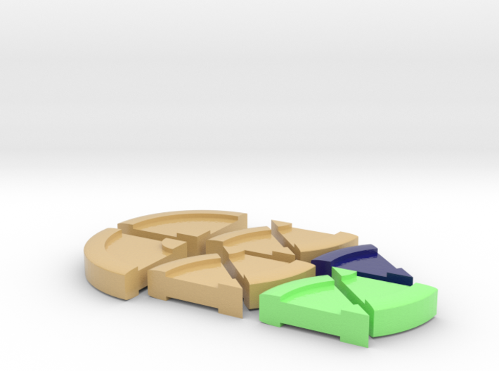 pie charts_sand_color 3d printed
