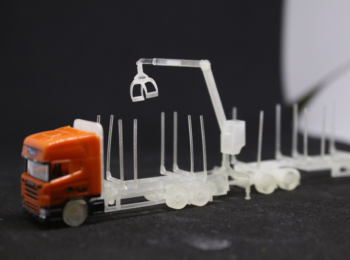 Swedish log truck and trailer 3d printed
