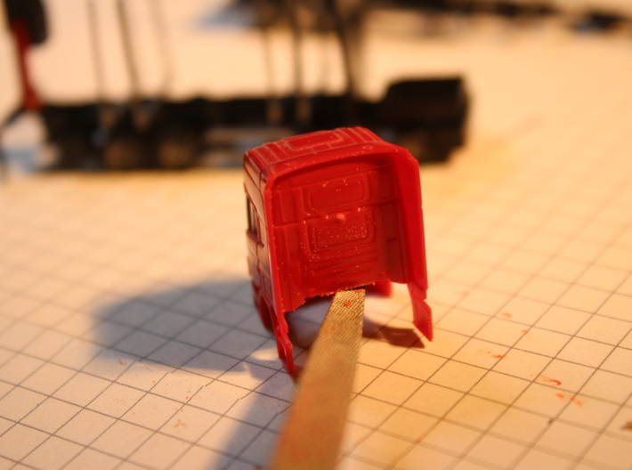 Swedish log truck and trailer 3d printed #2 sand down the litle edge here (try it on to see if the cab is level)