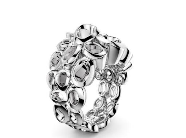 Molecular Ring (From $15 3d printed Avatar Silver Ring