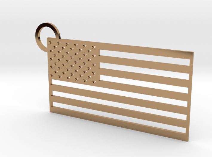 USA Flag Keychain 3d printed