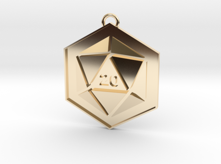 D20 Keychain or Necklace Pendant 3d printed