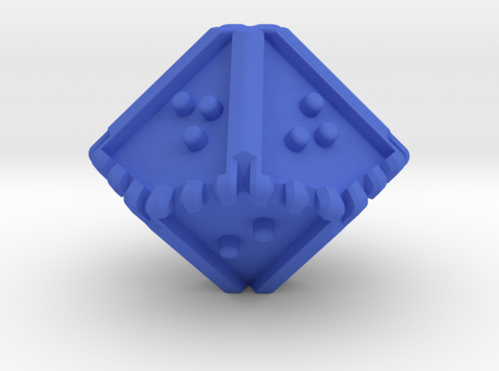 Braille Ten-sided, Blunt-tipped Die d10 3d printed