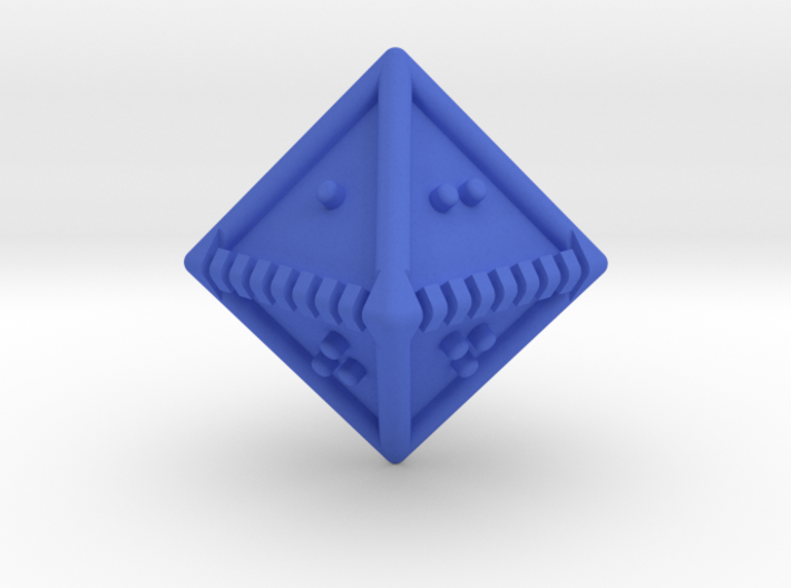 Braille Eight-sided Die d8 3d printed