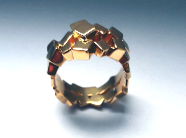 Prism Double Ring (from $15) 3d printed elegant geo ring.