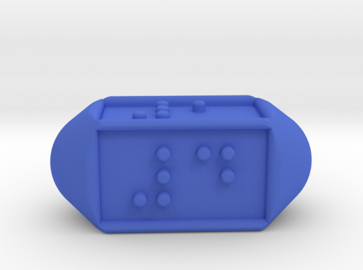 Braille Four-sided Die d4 3d printed