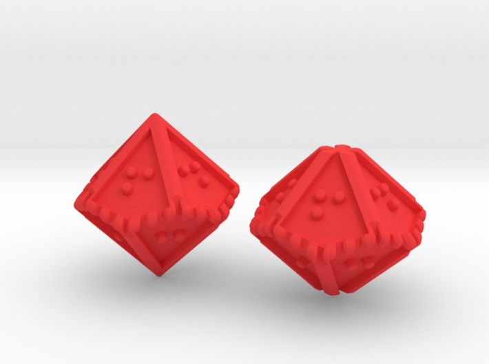 Braille Percentile Dice Set 3d printed