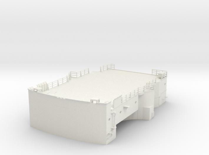1/96 Bismarck Lower Bridge Deck #1 3d printed