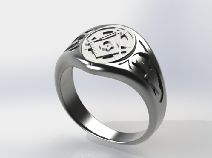 Masonic Ring Size 9 3d printed