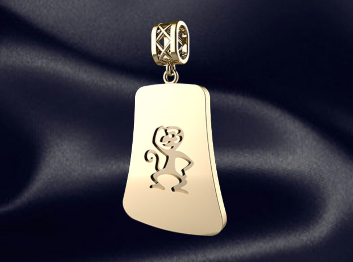 Chinese 12 animals pendant with bail - themonkey 3d printed RENDER PREVIEW
