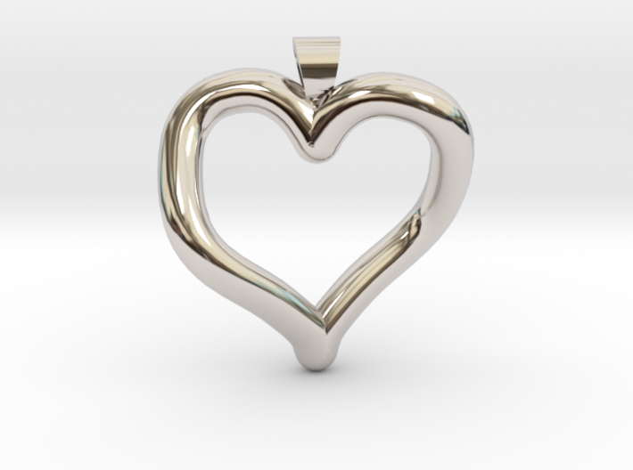 Infinite heart [pendant] 3d printed