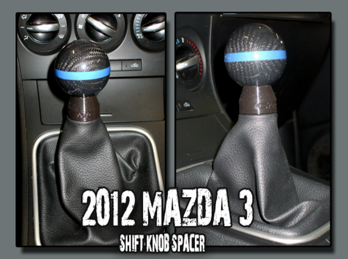Mazda 3 Shift Knob Spacer 3d Printed Mazda 3 Shifter Knob Spacer
