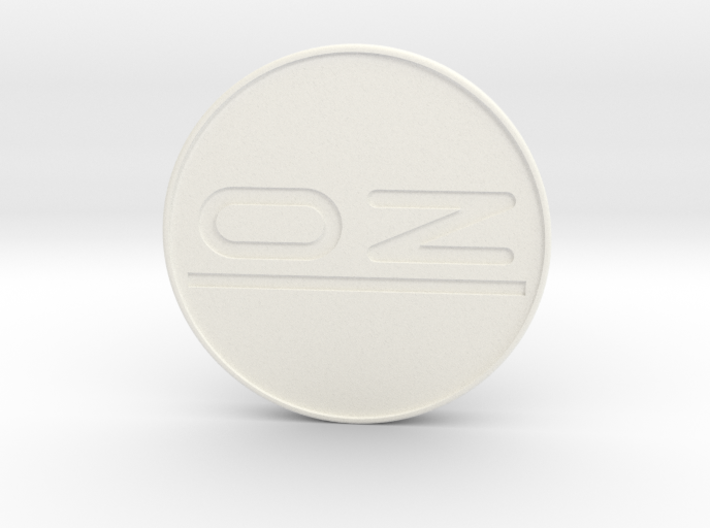 OZ center cap Nabendeckel - OZ Emblem flat 3d printed